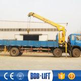 Grúa montada carro hidráulico del camión de 10 toneladas