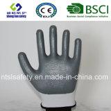раковина полиэфира 13G с покрынными нитрилом перчатками работы (SL-N101)