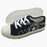 Späteste Frauen-Freizeit-Fußbekleidung bereift Einspritzung-Segeltuch-Schuhe (FFZL710-01)