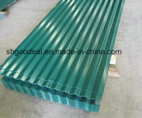 Hoja de acero acanalada PPGI para el material para techos del metal de Shandong China