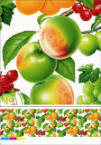 Mantel no tejido del PVC del forro con diseño del vehículo y de la fruta