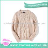 Camisola longa de lãs do projeto da camisola do Crochet da fantasia das senhoras