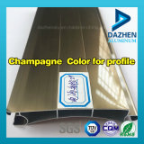 Profil en aluminium avec la vente chaude personnalisée différente de couleurs