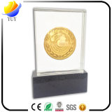 Decoração acrílica de cristal deNaufrágio personalizada da medalha de ouro