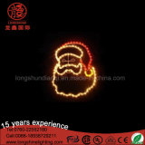 Licht van het waterdichte Motief HOOFD het 2D van de Kerstman voor de Decoratie van Kerstmis