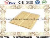 Comités van één Plafond van pvc van de Kleur van de Groef de Houten, het Plastic Comité van de Muur, Cielo Raso DE PVC