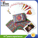 Карточки покера играя с полным печатание