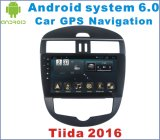 Reprodutor de DVD do carro do Android 6.0 para Nissan Tiida 2016 com o jogador do GPS do carro