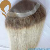 Ombre FarbeToupee für die Frauen mono mit PU um Haar-Stück