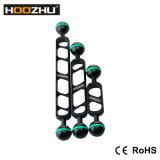 新しい! Hoozhu S24 7inchのダイビングのカメラの&Divingビデオライトのための二重球ヘッドサポート