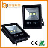 do projector ao ar livre do poder superior do projector da iluminação da luz de inundação AC85-265V do diodo emissor de luz 100W lâmpada impermeável