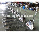 Carro de paleta hidráulico manual del acero inoxidable