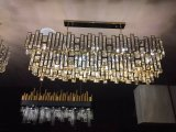 Светильник нержавеющей стали самомоднейший кристаллический привесной для домашней пользы