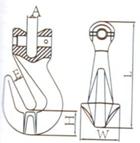 G80 Uリンクの短縮のグラブのホック7/8-8