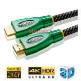 2.0 câble à grande vitesse du support Ethernet/3D/4k HDMI