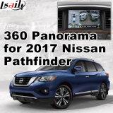 Infinitiのマルチメディア・システムLvds RGBのシグナル入力鋳造物スクリーンが付いている2017年のNissan Pathfinderのための背面図及び360パノラマインターフェイス
