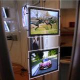 Rectángulo ligero cristalino delgado de la visualización de la ventana del agente inmobiliario LED