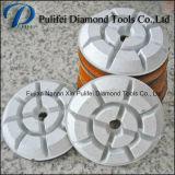 Moedura seca molhada da almofada de polonês do assoalho do diamante da resina de 3 polegadas para o assoalho concreto