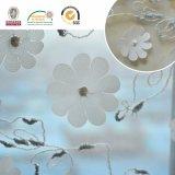 固体花の白いレースファブリックC10013