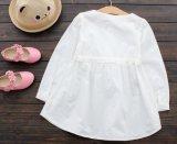 Principessa bianca Dress di modo di estate delle ragazze dei bambini di Skites