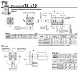 O Mk datilografa a ISO6431 ISO15552 Fito o cilindro pneumático do ar