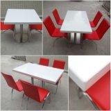 Gaststätte-Möbel-Quadrat-fester Oberflächensteinmarmorspeisetisch (T170313)