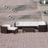 Jogo interno/ao ar livre do quarto de assento do jardim da mobília da sala de estar das cadeiras do Rattan do canto do sofá