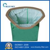 Saco verde com alta filtração para aspirador doméstico