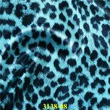 Cuero de moda de la PU Syntheitc del grano del leopardo para los complementos
