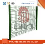 Triángulo cubierto PVC que dobla la cerca soldada del acoplamiento de alambre