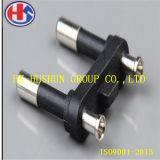 круглая штепсельная вилка 2-Pin с медью, заказы OEM и ODM приемлемо (HS-BS-0025)