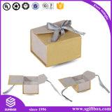 Cadre de bijou de papier en bois de Velet de cuir de luxe de bande