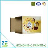 Boîte de empaquetage estampée par Cmyk ondulée à fraise de carton