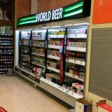 Refrigerador do indicador do supermercado/Showcase abertos refrigerador da bebida