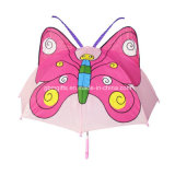 Gute Qualität scherzt Regenschirm, Frosch-Form