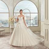 Шнурок Tulle планок спагеттиа высокого качества Appliques платье венчания 2017