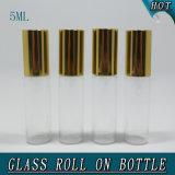 5ml het duidelijke Broodje van het Glas van de Bal van de Rol van het Roestvrij staal op Fles