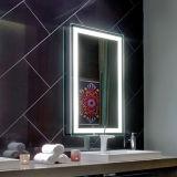 Specchio chiaro Backlit Heated elettrico fissato al muro della stanza da bagno LED