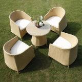 Conjunto de mimbre del sofá del salón de la rota de las sillas de la sala de estar de los bistros de los muebles del jardín del patio del ocio