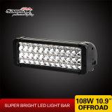 luz campo a través de la barra de la luz 11inch LED de la luz del trabajo del coche 108W