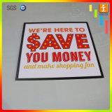 Tarjeta de la espuma del PVC de la muestra del anuncio