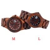 Reloj de madera de la manera durable unisex de encargo de la insignia