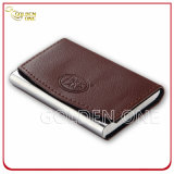 Suporte de escritório Creative PU Leather Business Card Holder