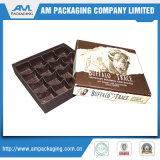 Caja de cartón de lujo de empaquetado del chocolate del rectángulo con la tapa