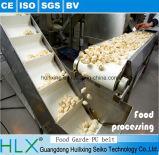 Transporte de correia modular do equipamento do alimento com parte superior de borracha