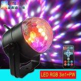 5 colores LED DJ Party el proyector ligero bola mágica cristalina ligera de Rgbwp de la mini LED con teledirigido