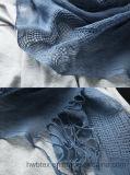 BSCI Fabrik-hochwertige normale Farben-reiner Leinenschal/Schal mit höhlen heraus aus (HWBL23)