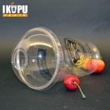 A alta qualidade 12oz descartável cancela copos plásticos da bebida fria do animal de estimação com tampa da abóbada