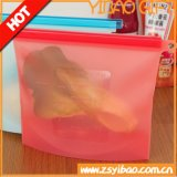 Alimento colorido del silicón/bolso vegetal del almacenaje de la cocina, bolso del lacre del silicón