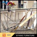 Стекло Diningtable таблицы банкета Seater мебели 8 нержавеющей стали
